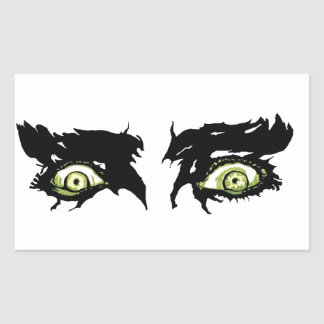 ZOMBIE EYES - Scary Roguish Eyes Rectangular Sticker