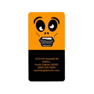 Zombie Face Address Label Portrait