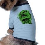 Zombie face dog tshirt