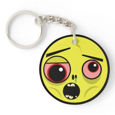 Zombie Face Keychain
