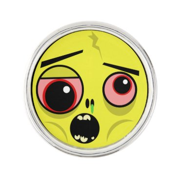 Zombie Face Pin