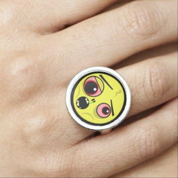 Halloween Themed Zombie Face Ring