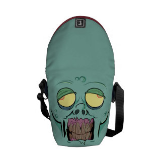 Zombie Face with a Toothy Grin Courier Bag