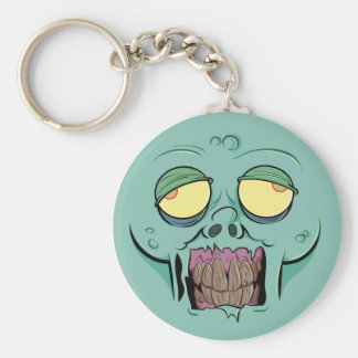 Zombie Face with a Toothy Grin Keychains