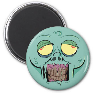 Zombie Face with a Toothy Grin Refrigerator Magnets