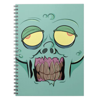 Zombie Face with a Toothy Grin Spiral Notebook
