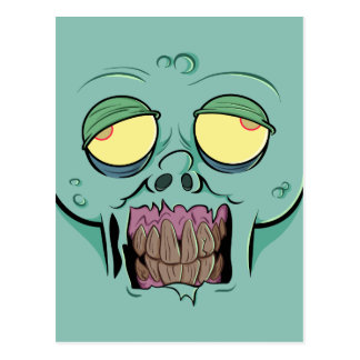 Zombie Face with a Toothy Grin Postcard