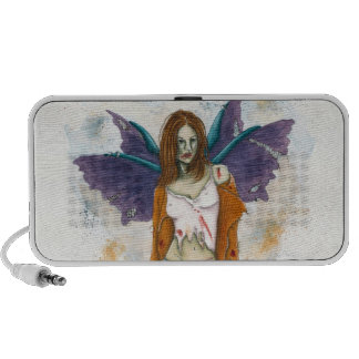 Zombie Faery Doodle iPod Speaker