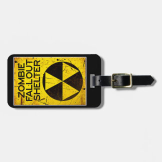 Zombie Fall Out Shelter Luggage Tag Walking