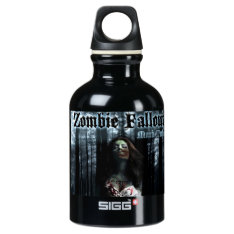 Zombie Fallout Aluminum Water Bottle at Zazzle