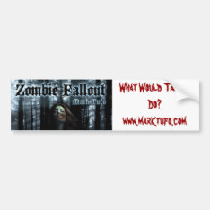 Zombie Fallout Bumper Sticker at Zazzle