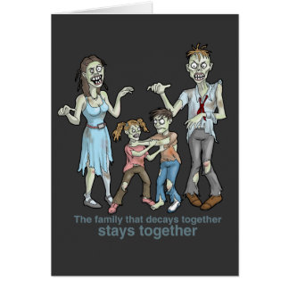 Zombie Family Decay Card