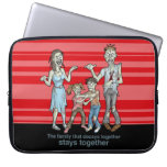 Zombie Family Decay Laptop Sleeve