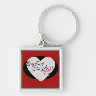 Zombie Fan Silver-Colored Square Keychain