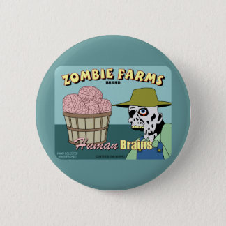Zombie Farms Fruit Crate Label Button