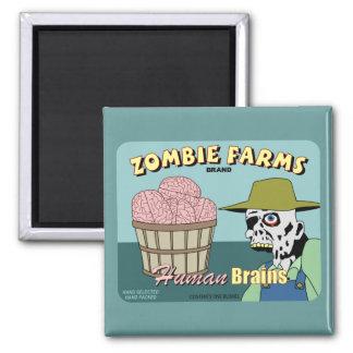 Zombie Farms Fruit Crate Label Fridge Magnets