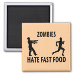 Zombie Fast Food 2 Inch Square Magnet