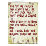zombie fathers day greeting card
