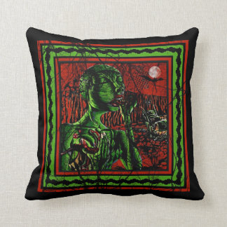 Zombie Feasting Throw Pillow