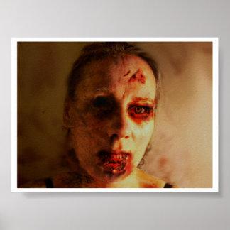 Zombie female print