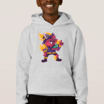 ZOMBIE FIREFIGHTER CARTOON HOODIE DESIGN