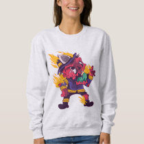 ZOMBIE FIREFIGHTER CARTOON SWEATSHIRT DESIGN
