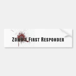 Zombie First Responder Bumper Sticker