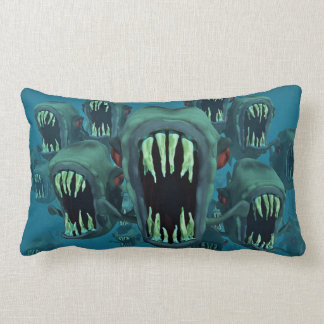 Zombie Fish Lumbar Pillow