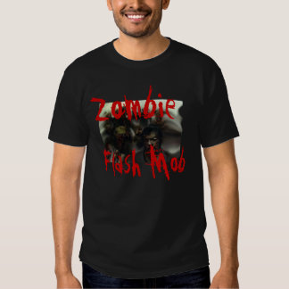 Zombie Flash Mob Custom Design Halloween T-shirt