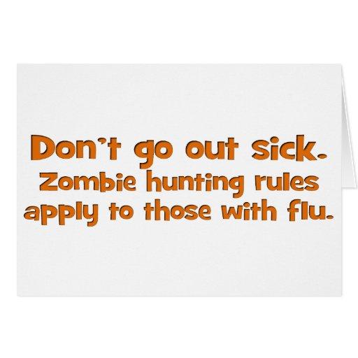 Zombie Flu Standard Card
