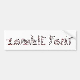Zombie Font Bumper Sticker