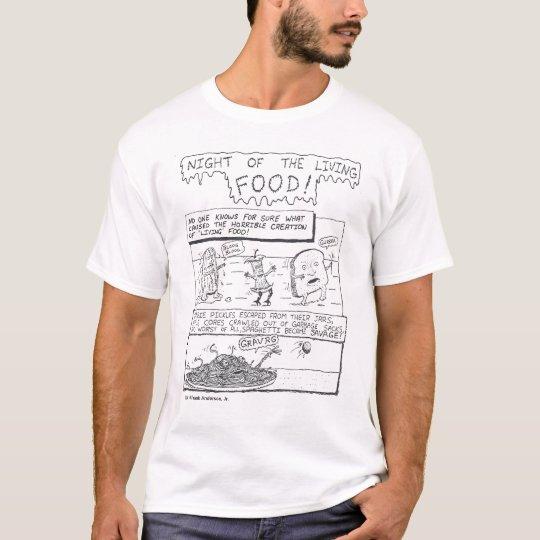 Zombie Food Black & White T-Shirt