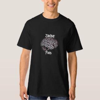 Zombie Food - Brains - horror WWZ zombies Tee Shirt