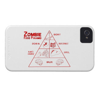 Zombie food pyramid Case-Mate iPhone 4 case