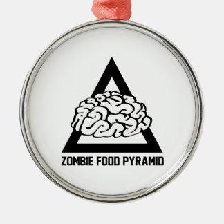 Zombie Food Pyramid Metal Ornament