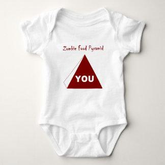 Zombie Food Pyramid Z Baby Bodysuit