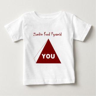 Zombie Food Pyramid Z Baby T-Shirt