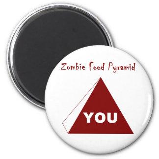 Zombie Food Pyramid Z Fridge Magnets