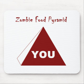 Zombie Food Pyramid Z Mouse Pad