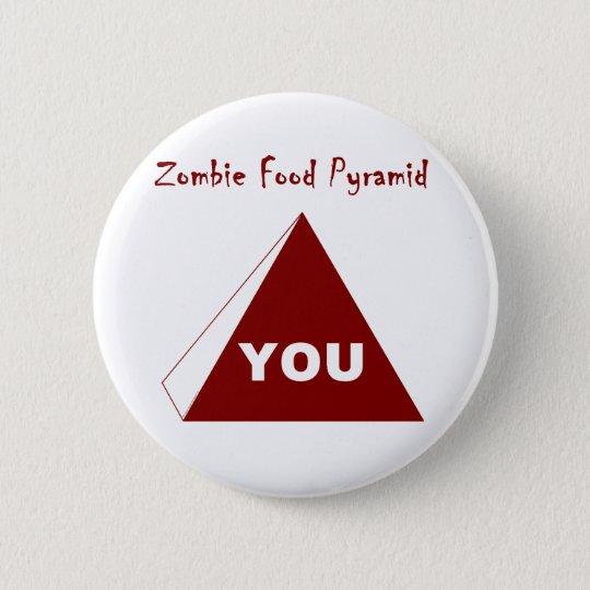 Zombie Food Pyramid Z Pinback Button