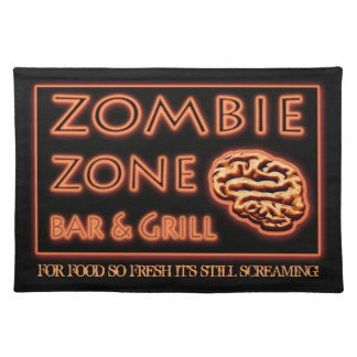 Zombie Food So Fresh Still Screaming Halloween Cloth Placemat