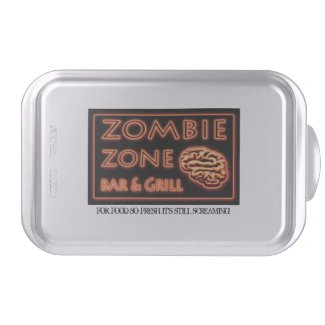 Zombie Food So Fresh Still Screaming Halloween Cake Pan