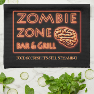 Zombie Food So Fresh Still Screaming Halloween Towel