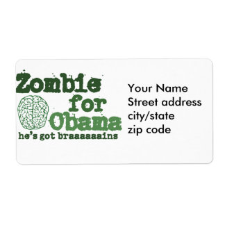 Zombie for Obama Label
