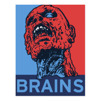 Zombie For President Postcard