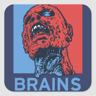 Zombie For President Square Sticker
