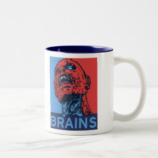 Zombie For President Two-Tone Coffee Mug
