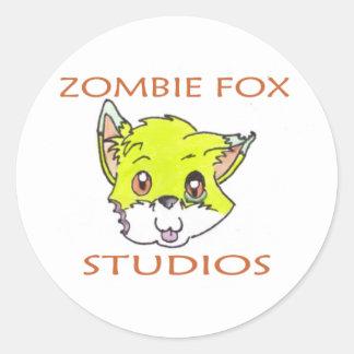 Zombie Fox Stickers