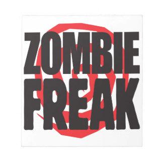 Zombie Freak Memo Note Pad