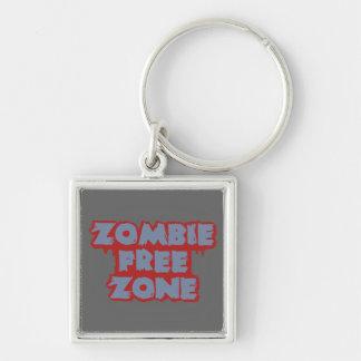 Zombie Free Zone custom key chain